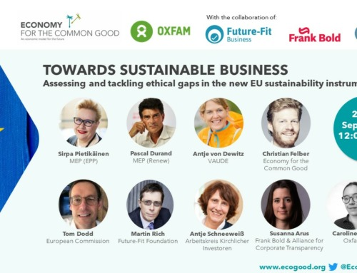 Event 'Towards sustainable business: Assessing and tackling ethical gaps in the  new EU sustainability instruments'